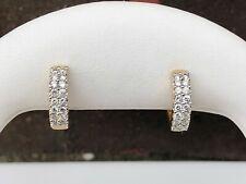 14K GOLD .50CT DIAMOND HOOP EARRINGS