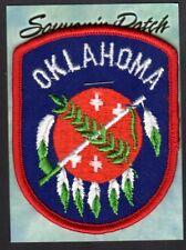 "Oklahoma Souvenir Patch  New=on card 1-3/4"" x 2-3/4"" Indian Dream Catcher"