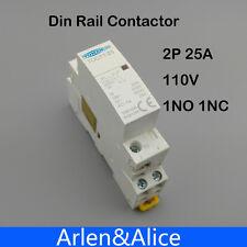 TOCT1 2P 25A 110V COIL 230V 50/60HZ Din rail Household ac contactor 1NC 1NO