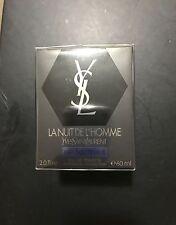 Yves Saint Laurent La Nuit De L'Homme Eau Electrique 2oz/60ml EDT New in Box HTF