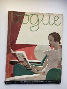 VOGUE Magazine 1932 September  A E MARTY COVER