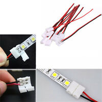 10Pcs PCB Cable 2 Pin LED Strip Connector 3528/5050 Single Color Adapter FO
