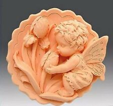 Silicone Soap/Candle Mold/Mould Little Angel with Tulipa