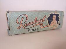 VHTF Hard plastic Rosebud doll with original box made in England