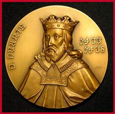 Monarchy / King Edward Duarte I The Philosopher / Great Bronze Medal! (M.***)