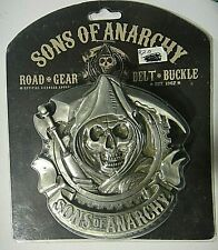 Sons of Anarchy Grim Reaper 3d Pewter Metal Belt Buckle (Road Gear)  -NEW