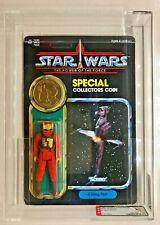Vintage Star Wars B-Wing Pilot +Coin (AFA 80) (80/85/90) (92 Back) (Kenner 1985)