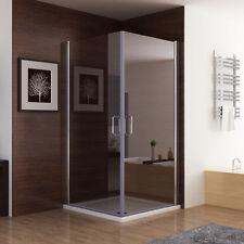 90 x 90 cm Echtglas Duschkabine Eckeinstieg Dusche Duschwand Duschabtrennung 185