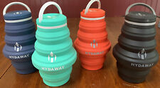 Hydaway Collapsible Water Bottles Set of 4 Teal Red Navy Black