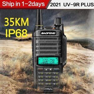 20W UV-9R Plus VHF UHF Walkie Talkie Dual Band Two Way Radio IP68 For BAOFENG