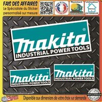 lot 3 Stickers autocollant Makita bricolage adhésif sponsor outillage decal