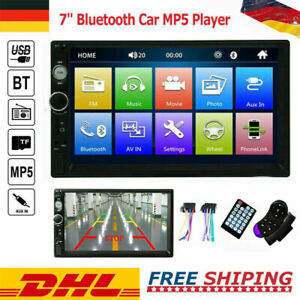 """7"""" Doppel 2 DIN Bluetooth Autoradio Stereo FM USB TF AUX IOS/Android MP5 Player"""