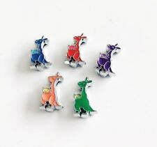10PCs Mixed color 8mm Enamel Kangaroo Fit 8mm Pet Dog Collar Name Belt Bracelets