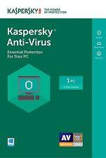 Fast processing Kaspersky Antivirus 1 PC  2017 1 year