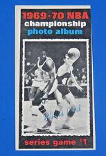 1970 TOPPS ~ NBA CHAMPIONSHIP GAME 1 WILLIS REED BASKETBALL CARD #168 ~ EX/MT OC