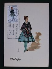 SPAIN MK 1967 TRAJES BADAJOZ TRACHT COSTUME MAXIMUMKARTE MAXIMUM CARD MC c6080