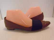 Halogen Womans Leather Black & Brown Flat Shoes Size 6.5M
