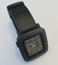 Black Pebble Time 501 Smartwatch WITHOUT CHARGER - Used & Working