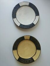 2 Moroccan hanging Plate Ceramic Handmade Hanging plate 10 inches set of 2.