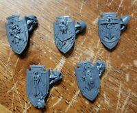 Warhammer 40k Dark Angels Bits:Deathwing Terminators Storm Shields w/Arms x5