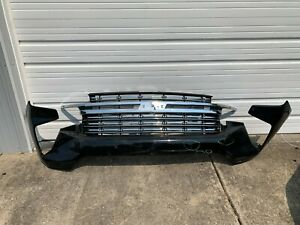 OEM 2021 CHEVROLET TAHOE & SUBURBAN CHROME GRILLE AND FRONT BUMPER