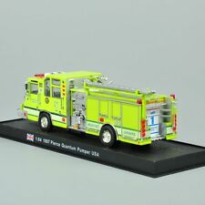 Fire Truck Model 1:64 Yellow Car 1997 Pierce Quantum Pumper Diecast Children Toy