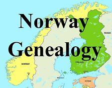 Norway Norwegian Genealogy Record Family Tree 37 Books Ancestry History on DVD