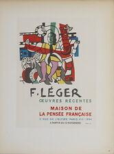 Fernand Leger-Maison de la Pensee Francaise-1959 Mourlot Lithograph