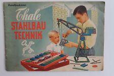 8634 Prospekt Metall Baukästen Thale Stahlbau DDR Spielzeug Katalog von 1956