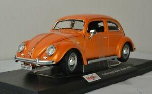 Maisto Volkswagen Kafer Beetle 1955 Diecast Model Sports Classic Car Kids Toy