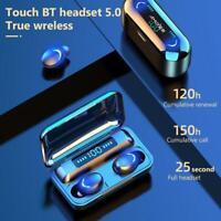 TWS Bluetooth Earphone V5.0 9D Stereo Wireless Headphones Waterproof Sport I3Z5