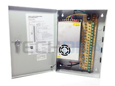 CCTV 12V DC 25A 18ch Lockable Power Supply PSU Boxed PTC Fused Kettle Lead