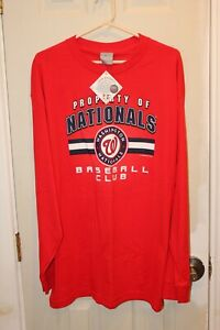 red Washington Nationals long-sleeve graphic t-shirt (NWT) - adult XL