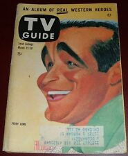 1958 TV GUIDE COVER'S ONLY~PERRY COMO CARICATURE BY AL HIRSCHFELD