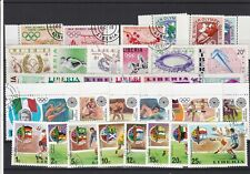 Liberia Mixed Sports Cancelled Stamps Including Olympics ref R 18544
