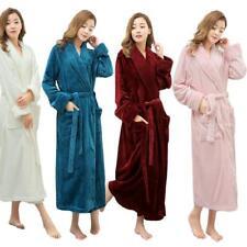 Women Soft Winter Warm Long Bath Robe Lovers Kimono Bathrobe For Men Ladies New
