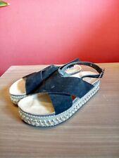 Sandales noires semelle en corde à clous Girlhood Pointure 37