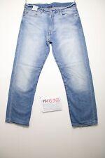 Levis 504 (Cod.H1538) Tg.48 W34 L36 accorciato jeans usato denim