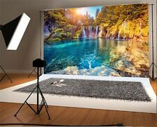 Vinyl 7x5ft Scenic Photography Backgrounds Waterfall Lake Photo Studio Backdrops
