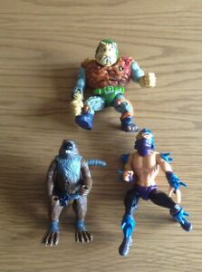 Vintage Turtle Playmates 1989 Splinter Shredder General Traag