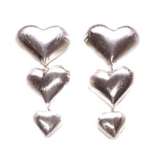 Crazy in love- chrome heart trio/rubber support metal clip on earrings(ZX265)