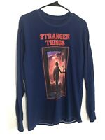 Netflix Stranger Things Long Sleeve Shirt Men's Size M Blue