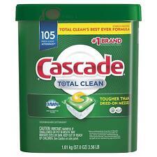 Cascade Total Clean ActionPacs Dishwasher Detergent Fresh Scent 105 ct