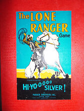 The Lone Ranger Board Game, 1938 Full Box Version  ((3136))