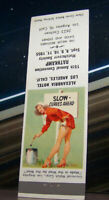 Vintage Matchbook Cover C7 Los Angeles California 1955 15th RMS Pin Up Girl Slow