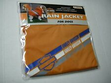 Harley Davidson Dog Rain Jacket, Orange, Size X-Small, Brand New