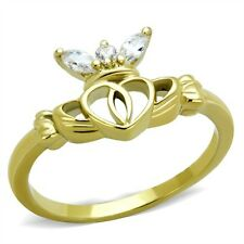 Diamond Heart Stainless Steel Costume Rings