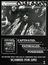 Obsession Scarred For Life Enigma Records 1986 8x11 Promo Poster Ad