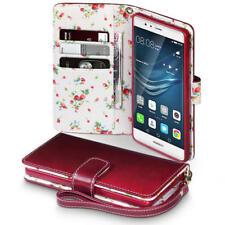 Cover e custodie rosso Per Huawei P9 in pelle sintetica per cellulari e palmari