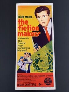 The Fiction Makers Roger Moore Original Vintage 1967 Australian Daybill Poster